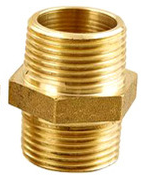 Brass Heavy Close Hex Nipple 1