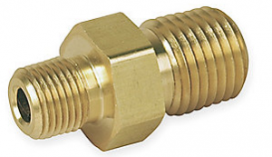 Brass Hexagonal Reducing Nipple 2